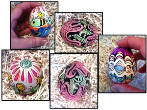Tangle pattern Easter eggs from Cindy Angiel